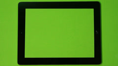 Digital Tablet Green Screen Frame Static Stock Footage