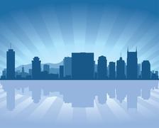 nashville, tennessee skyline - stock illustration