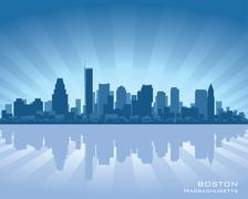 Boston skyline Stock Illustration