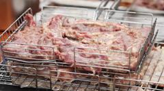 Preparing meat Stock Footage