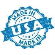 Made in usa blue grunge seal Stock Illustration
