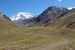 Aconcagua, andes mountains, argentina Stock Photos