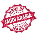 Stock Illustration of made in saudi arabia red grunge seal
