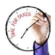 Käsi kirjallisesti aikaa veroja Piirros