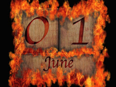 June calendar. Stock Footage