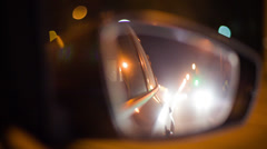 Fast night drive - stock footage