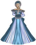 Winter Princess in Blue Stock Illustration