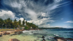 HDR timelapse video of Dewundara light house, Sri Lanka Stock Footage