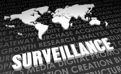 surveillance - stock illustration