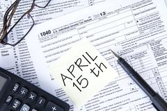 Stock Illustration of tax day reminder