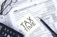 Stock Illustration of tax time sign