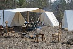 Civil War Encampment Stock Photos