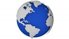 Rotate dotted globe Stock Footage