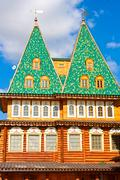 Wooden palace in Russia Stock Photos