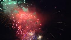 Colorful fireworks no sound Stock Footage