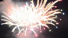 Colourful fireworks - background - stock footage