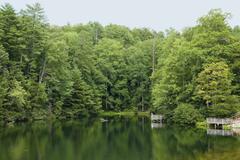 blue ridge lake - stock photo