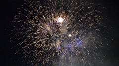 Fireworks and flickering lights Stock Footage