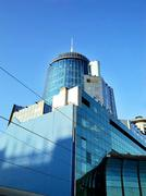 Modern railway station in samara russia Stock Photos