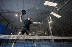 Paddle tennis smash Stock Photos