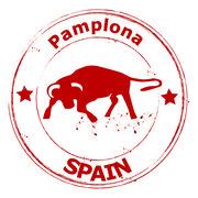 Pamplona-Spain - stock illustration