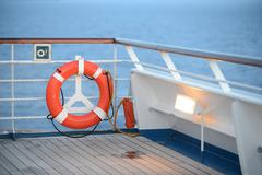Life preserver on cruise ship Stock Photos