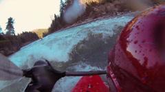Whitewater kayaking Stock Footage