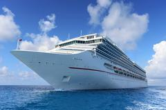 Passenger cruise ship at sea Stock Photos