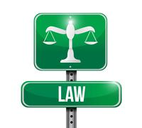 Stock Illustration of law road sign illustration design
