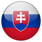 slovakia button - stock illustration