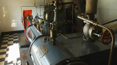 Steam engine in operation,a common mill engine of the mid 19th century Stock Footage