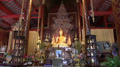 Inside unknown temple, Chiang Mai, Thailand, HD 1080p Stock Footage