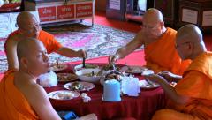 Monks incide the temple, Chiang Mai, Thailand, HD 1080p - stock footage