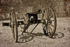 Civil war cannon Stock Photos