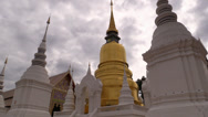 Stock Video Footage of Wat Suan Dok, Chiang Mai, Thailand, HD 1080p