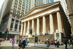 Federal hall national memorial at the wall street in new york Stock Photos