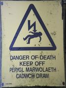 Electrocution Danger Sign Stock Photos