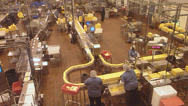Stock Video Footage of Assembly Line in Cheese Factory