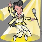 Elvis Presley Stock Illustration