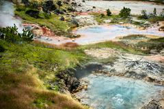 Hot Springs of Yellowstone Stock Photos
