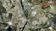 HD 1080 - Pienennä earth (pilvien läpi tilaan) Arkistovideo