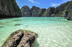maya bay, phi phi leh island,thailand , asia - stock photo