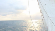 Stock Video Footage of CARIBEAN SUNNY SKY FROM A SAIL