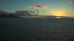 Cape Town and Atlantic Ocean sunset - stock footage