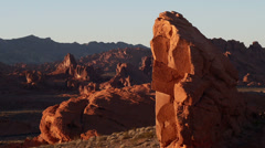 Red rock wilderness valley of fire nevada Stock Footage