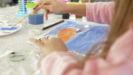 Stock Video Footage of Children painting and playing at kindergarten