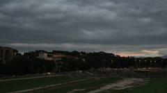 Evening at Circo Massimo (Ben Hur) Rome Stock Footage