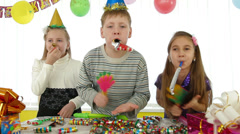 Kids Birthday Party Stock Footage