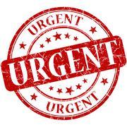 Urgent grunge round red stamp Stock Illustration
