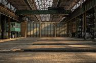 Stock Photo of Industrial interior of an old factory